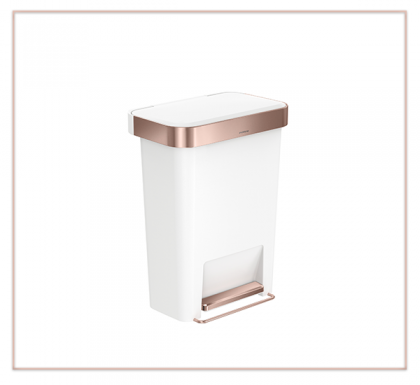 Bring Rose Gold to your Kitchen with the new Step Can from simplehuman
