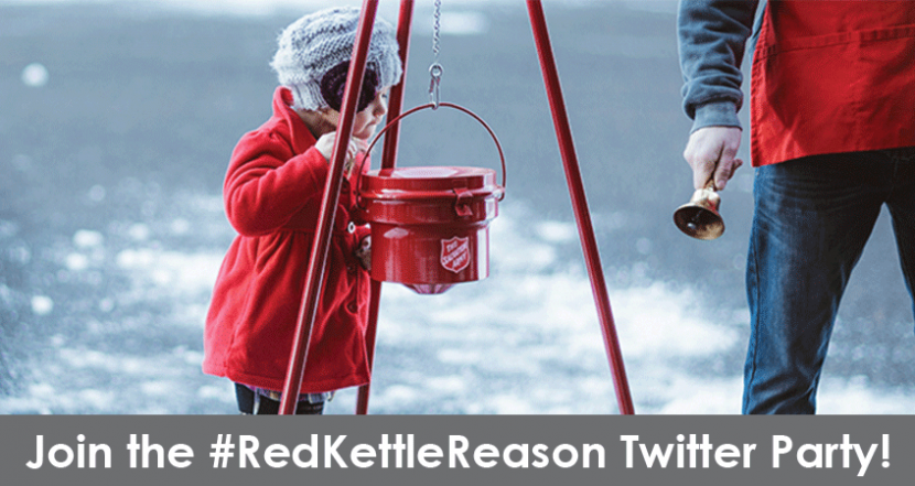 Join us for the Salvation Army #RedKettleReason Twitter Party about #GivingTuesday!