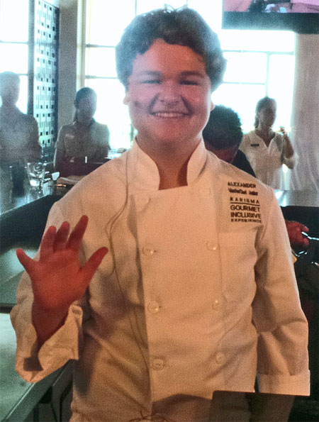 Generations Riveria Maya Little Eko Chefs - Alexander Weiss from MasterChef Junior