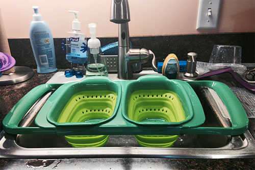 Squish Expandable Over The Sink Colander